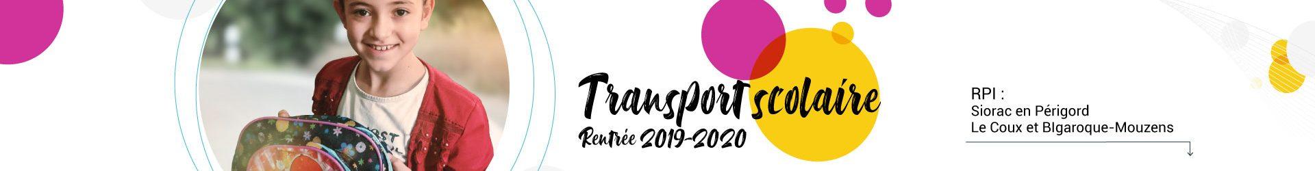 Transport scolaire :  rentrée 2019-2020