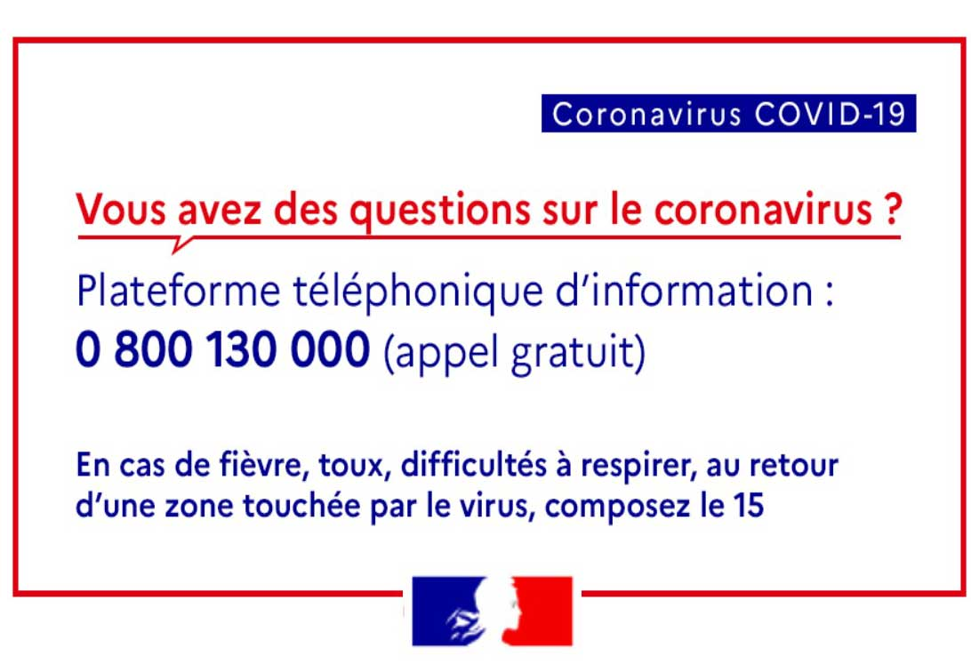 numero telephone coronavirus gouvernement