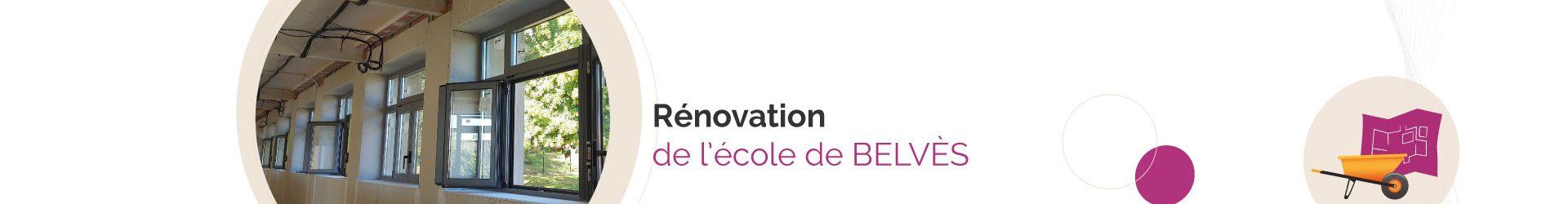 Rénovation de l'école de Belvès